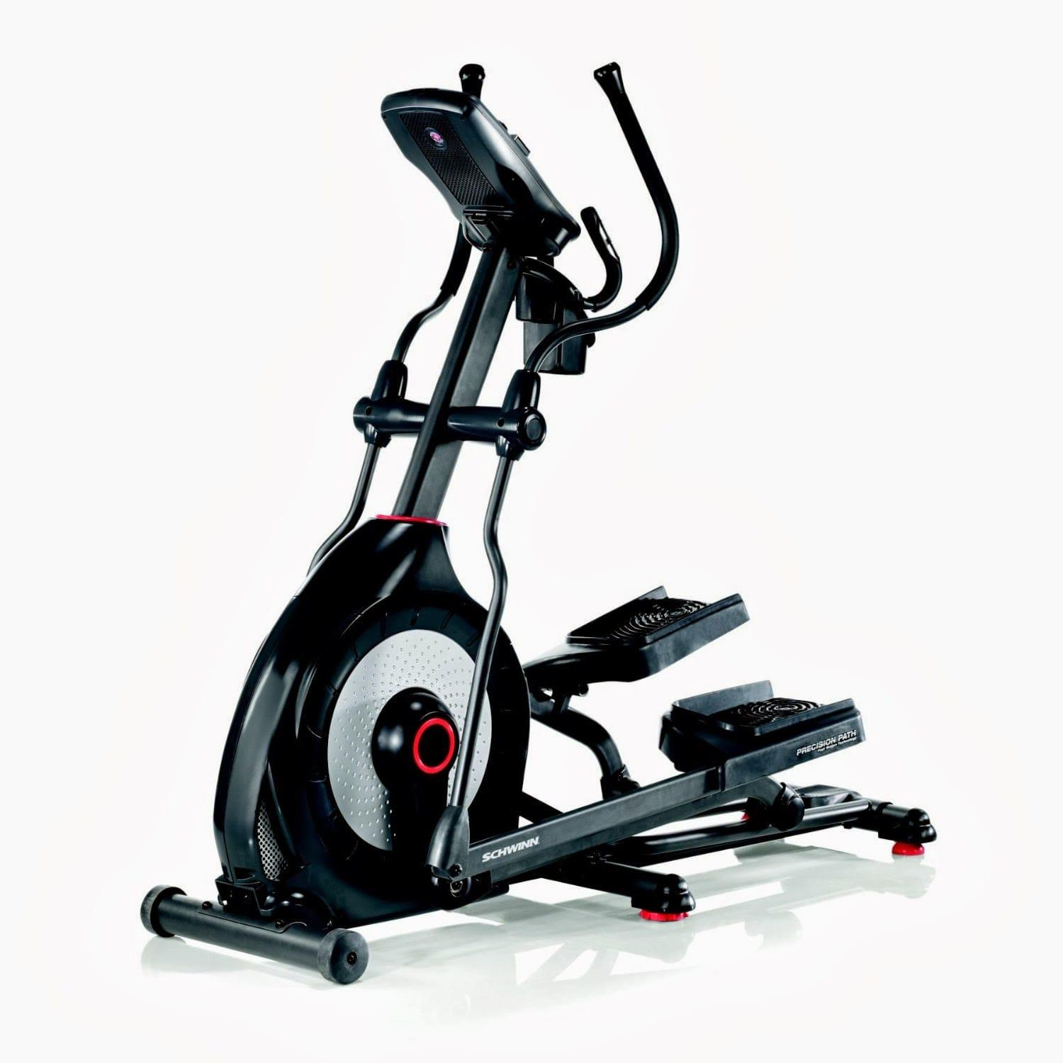 Schwinn 470 Elliptical looks nice in a shiny full black frame