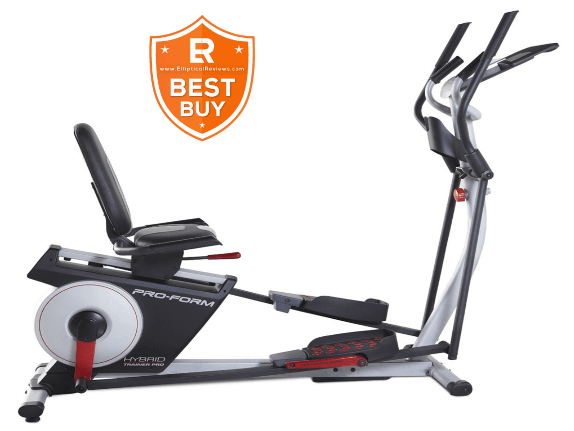ProForm Hybrid Trainer Pro Elliptical Machine with best buy logo
