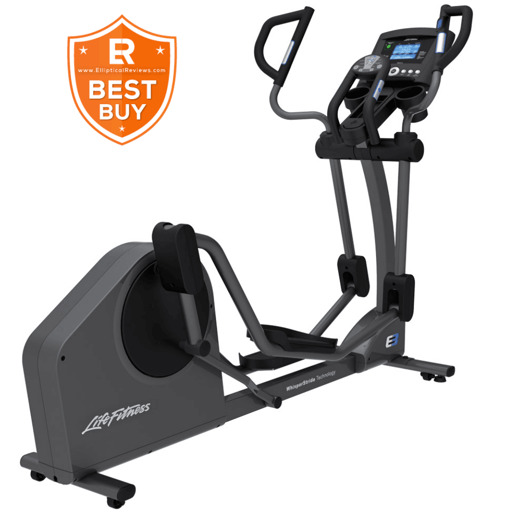 Life Fitness E3 Elliptical Cross Trainer with best buy logo