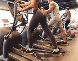 exercisers on elliptical machine